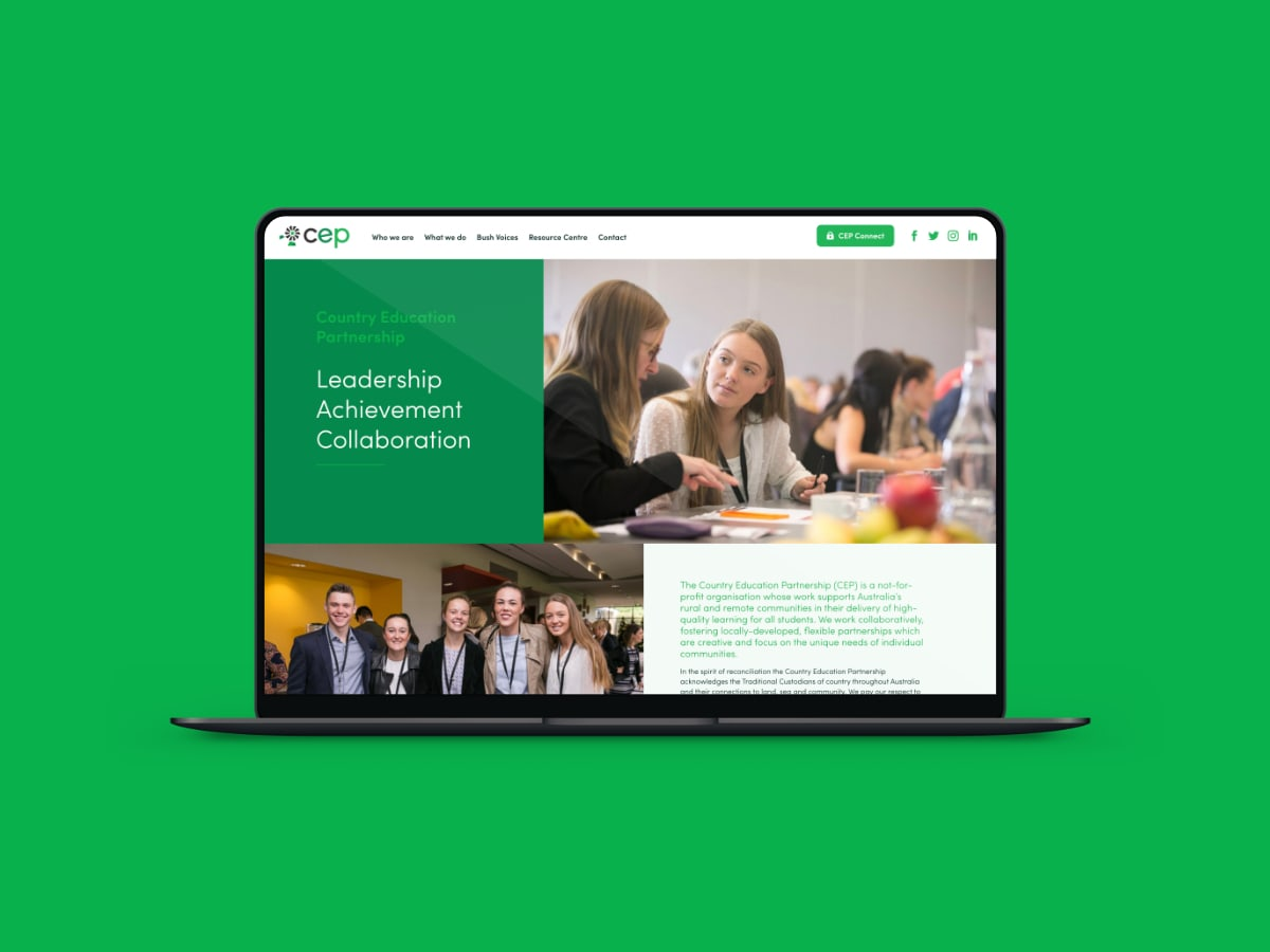 Country Education Partnership website